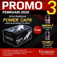 PowerCaps Box, 36 Sachets (72 Caps) - Ultimate Nutrition Official