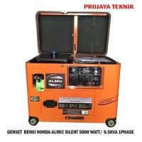 BARU GENSET HONDA ALMIC SILENT 5000WATT/6.5KVA 1PHASE BENSIN GARANSI