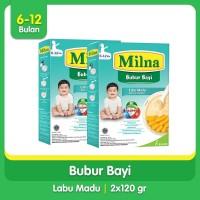 [Paket Bundling Hemat] 2 Box Milna Bubur Regular 6+ Labu Madu 120gr