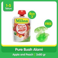 Buy 3 Milna Nature Delight 80gr Free Dispensing Spoon