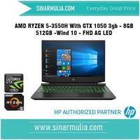 HP Pavilion Gaming 15 - ec0001AX R5 3550H 8 GB 512GB-SSD GTX1050 - 3GB