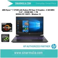 HP Pavilion Gaming 15-ec0022ax R7 3750H 8GB 1TB + 256GB-SSD GTX1660Ti