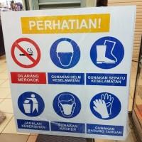 RAMBU PLAT APD PERSONAL PROTECTIVE EQUIPMENT PPE TANDA SAFETY K3