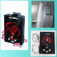 Water Heater Gas Niko NK 6LDG LUX Glass/Pemanas Air Gas Model Ariston