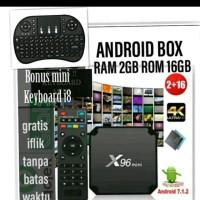 STB X96 Android box ori ram 2gb rom 16