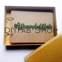 Scrapbook Album A5 + Box, Alhamdulillah isi 25 lembar