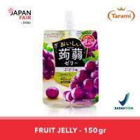 Jelly Tarami Oishii Konjac Grape Jelly Jepang rasa Anggur 150gr