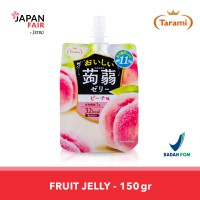 Jelly Tarami Oishii Konjac Peach Jelly Jepang rasa Persik 150gr