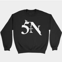 Hoodie Swester Baju Hangat Zipper Nine Inch Nail NiN SIN Logo
