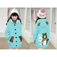 Jaket Hoodie Funny Rabbit & Bear Kid Tosca Soft