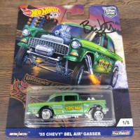 Hot Wheels 55 Chevy Bel Air Gasser DragStrip Sign Brendon Vetuskey