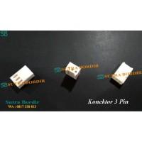Konektor 3 pin Socket Konektor Putih 3 Pin Bordir & Printing Industri