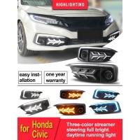 Front Fog Lamp LED Lambo Civic Turbo Sedan Facelift 2019 - Up