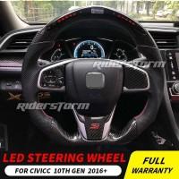 Steering Wheel Carbon LED Civic Turbo / CRV Turbo 2016 - Up