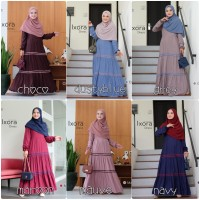 IXORA DRESS BY URFIMUTIYARO GAMIS ONLY RAYON VISCOSE CASUAL TRAVELLING