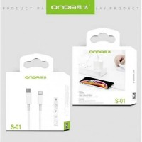 Reseller Onda S-01 Kabel USB Type C Ke Lightning Kabel Charger
