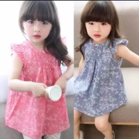 rok dress bayi anak warna PINK atau BLUE
