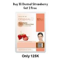 Dermal Strawberry Collagen Essence Mask Convergence Brightening Refin