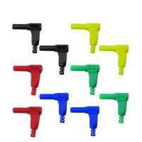 Tui 10pcs P3014 4mm Safety Shrouded Banana Plug 90 Degree