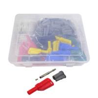 Tui 70pcs P3005B 5 colors 4mm Banana Plug Sets Stacking Safety