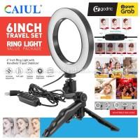Ring Light 16CM with Mini Grip Tripod Lampu Beauty MultiColor Vlogger