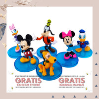 MAINAN ANAK ACTION FIGURE DONALD DUCK MICKEY MOUSE MINNIE MOUSE 6PCS