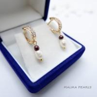 Anting Mutiara Air Tawar Asli Gift Perhiasan Hadiah Mewah dan Unik VI