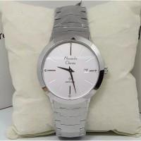 Alexandre Christie AC 8568 Silver White Jam Tangan Pria Original