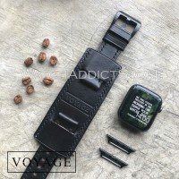 voyage original strap kulit asli apple watch iwo samsung tali jam asli