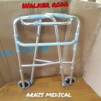 Tongkat walker roda lipat,alat bantu jalan