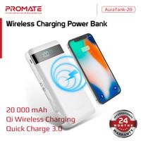 Promate Wireless Power Bank 20000 mAh - AuraTank-20 Powerbank 20000mAh