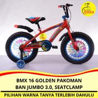 Sepeda Anak BMX 16 Golden Pakoman Pokemon Ban Jumbo 3.0 Murah