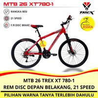 Sepeda Gunung MTB 26 Trex XT-780-1 21 speed Murah