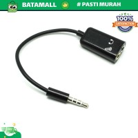 Microphone Headphone Audio Splitter 3.5mm ke 2 x 3.5mm