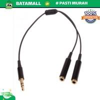 Overfly Kabel AUX Audio 3.5mm Male ke 2 x 3.5mm Female HiFi