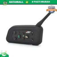 Motorcycle Helmet Bluetooth Interphone Headset 1200 Meter - V6-1200