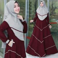 Gamis / Baju / Setelan Baju Wanita Muslim Afifah Syari 2in1 + Hijab HQ