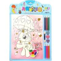 Jual Kanvas Lukis Mewarnai Drawing Canvas Anak Karakter Kartun Little Pony Jakarta Barat Saint Sticker Tokopedia