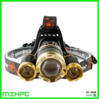 Senter Headlamp Cree XM-L 3T6 10000 Lumens