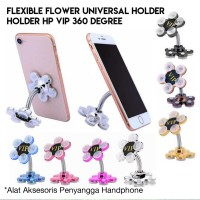 Holder HP VIP Gurita 2 Sisi Flexible 360 Degree Flower Suction Cup