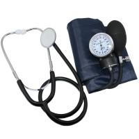 Set Stetoskop & Pengukur Tekanan Darah Sphygmomanometer ANEROID - Blue