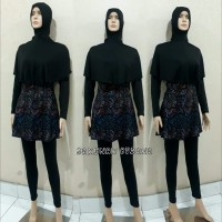 baju renang wanita muslimah dewasa kerudung panjang 001