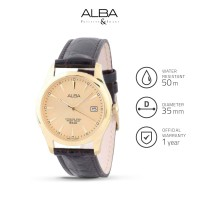 Jam Tangan Pria Alba Analog Leather Axhl64 Original