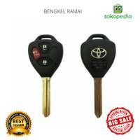 TERLARIS A13 Casing Kunci Remote 3 Tombol Mobil Toyota Yaris,Innova,Fo
