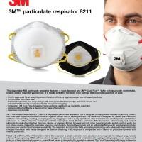 MASKER 3M PARTICULATE RESPIRATOR MASK 8211 ANTI VIRUS CORONA SAFETY