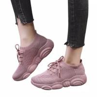BEST SELLER HR 02 Sepatu Sneakers Wanita Model Sport Casual Flat Mesh