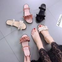 BEST SELLER Sandal Wanita Kerut Tali Belakang TERLARIS