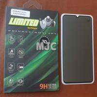 Limited Tempered Glass Spy Samsung M30 Full Black Privacy Premium