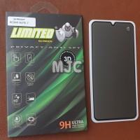 Limited Tempered Glass Spy Xiaomi Redmi Note 7 Full Black Privacy