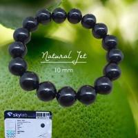 Gelang Crystal Healing Natural Jet Stone (GBP196)